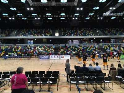 Copper Box Arena, section: 111, row: 4, seat: 57