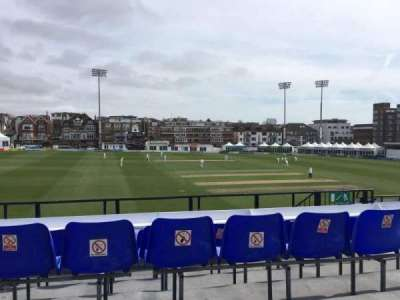 County Cricket Ground (Hove), section: Upper Grandstand M, row: D, seat: 6