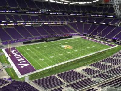 U.S. Bank Stadium, section: 347, row: B, seat: 15