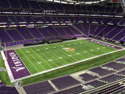 U.S. Bank Stadium, section: 346, row: B, seat: 2