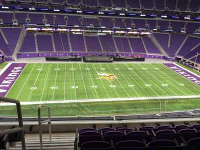 U.S. Bank Stadium, section: 342, row: E, seat: 25