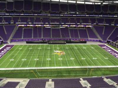 U.S. Bank Stadium, section: 341, row: B, seat: 33