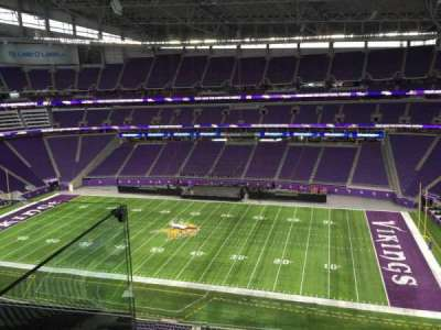 U.S. Bank Stadium, section: 338, row: D, seat: 20