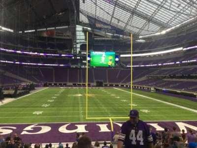 U.S. Bank Stadium, section: 142, row: 16, seat: 9