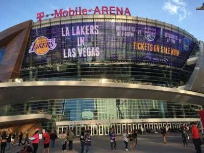T-Mobile Arena section Outside
