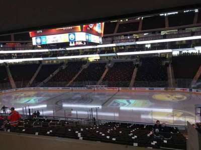 Rogers Place, section: 101, row: Bar Rail, seat: 3