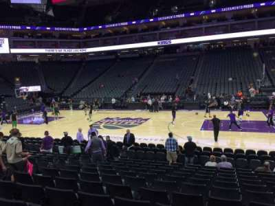 Golden 1 Center, section: 119, row: A, seat: 10