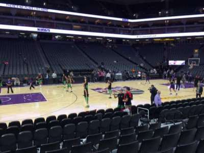 Golden 1 Center, section: 121, row: Cc, seat: 9
