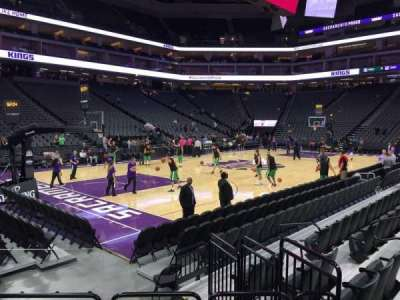 Golden 1 Center, section: 123, row: Aa, seat: 2