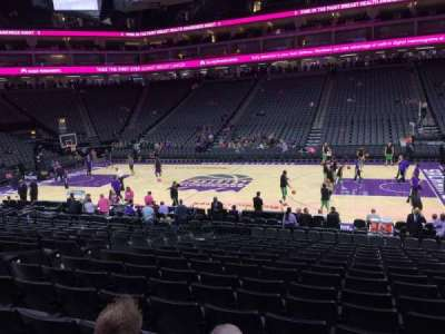 Golden 1 Center, section: 106, row: F, seat: 11