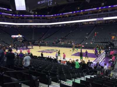 Golden 1 Center, section: 105, row: B, seat: 5