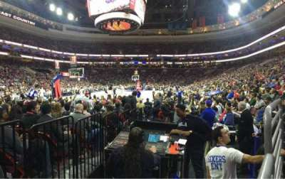 Wells Fargo Center, section: 121, row: 1, seat: 15