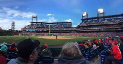 Citizens Bank Park, section: 134, row: 5, seat: 2