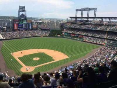 Coors Field, section: U328, row: 24, seat: 14