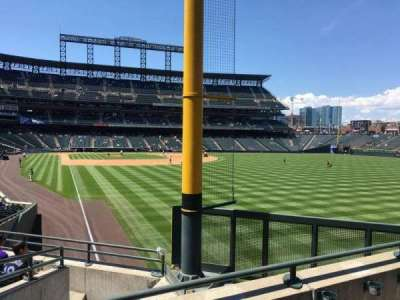 Coors Field, section: 109, row: 3, seat: 7