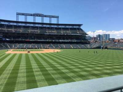 Coors Field, section: 108, row: 3, seat: 4
