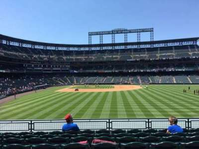 Coors Field, section: 106, row: 9, seat: 11