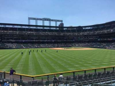 Coors Field, section: 157, row: 12, seat: 4