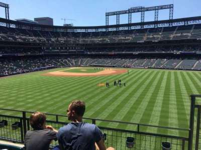 Coors Field, section: 203, row: 3, seat: 4