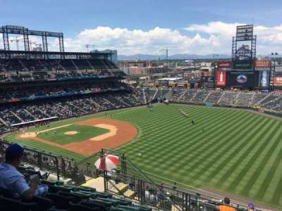 Coors Field, section: U315, row: 15, seat: 10