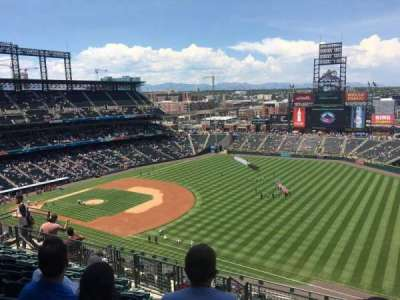 Coors Field, section: U316, row: 16, seat: 6