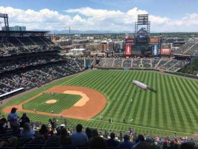 Coors Field, section: U318, row: 23, seat: 12