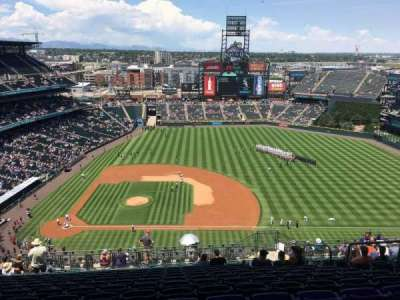 Coors Field, section: U323, row: 24