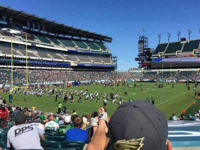 Lincoln Financial Field, section: 114, row: 16, seat: 24