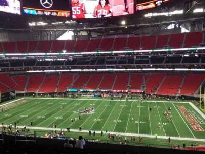 Mercedes-Benz Stadium, section: 208, row: 12, seat: 8