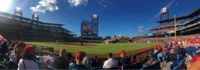 Citizens Bank Park, section: 114, row: 4, seat: 5