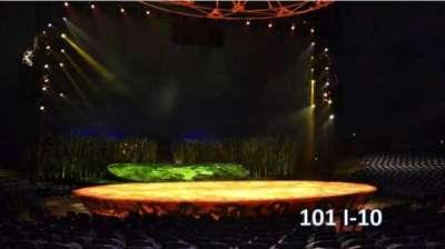 Cirque Du Soleil -Totem, section: 101, row: I, seat: 10