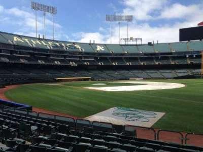 Oakland Coliseum, section: 106, row: 8