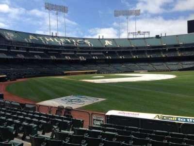 Oakland Coliseum, section: 105, row: 8