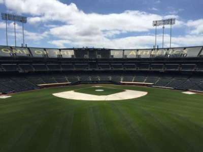 Oakland Coliseum, section: 243, row: 2