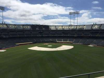 Oakland Coliseum, section: 245, row: 2