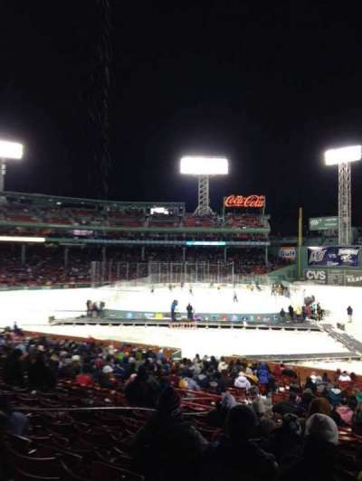 Fenway Park, section: 8, row: 1, seat: 4