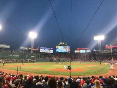 Fenway Park, section: Field Box 47, row: M, seat: 1