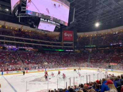 Gila River Arena, section: 113, row: L, seat: 1
