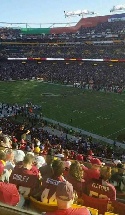 FedEx Field, section: 316, row: 11, seat: 15