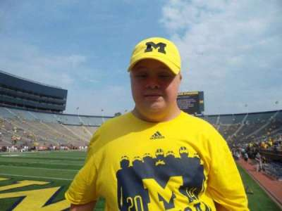 Michigan Stadium, section: 9, row: A, seat: 17