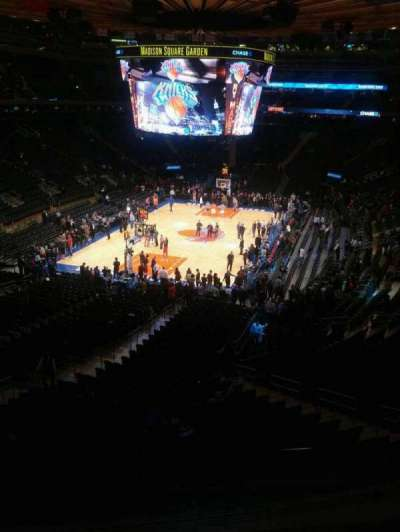 Madison Square Garden, section: 207, row: 3