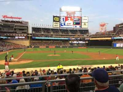 Target Field, section: 110, row: 4, seat: 7