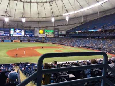 Tropicana Field, section: 121, row: PP, seat: 9
