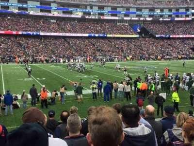Gillette Stadium, section: 134, row: 10, seat: 19