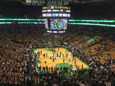 TD Garden, section: Bal 325, row: 1, seat: 4