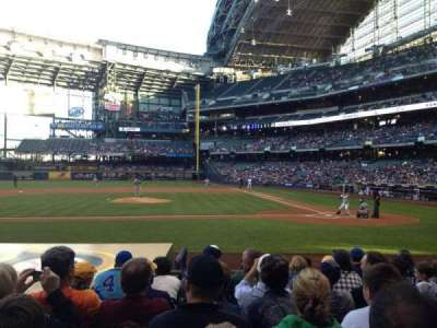 Miller Park, section: 121, row: 10, seat: 8