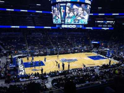 Amway Center, section: Club E, row: 3, seat: 9