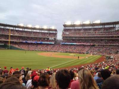 Nationals Park, section: 108, row: LL, seat: 10