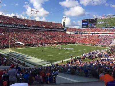 EverBank Field, section: 244, row: G, seat: 7