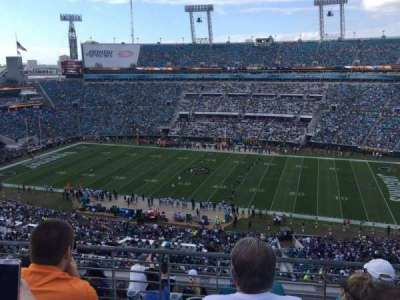 EverBank Field, section: 434, row: J, seat: 7